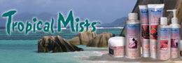 Косметическая черта Tropical Mists - суммы ухода равным образом гигиены